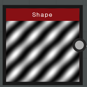 Main pattern 使用的 Shape 参数。 Tiling : 4 Pattern : Bell Scale : 1.5 Size : X=2 , Y=0.62 Angle : Turns = -0.13 , Degrees = -48 Rotation 45 = False Non Square Expansion : True Non Square Tiling : False