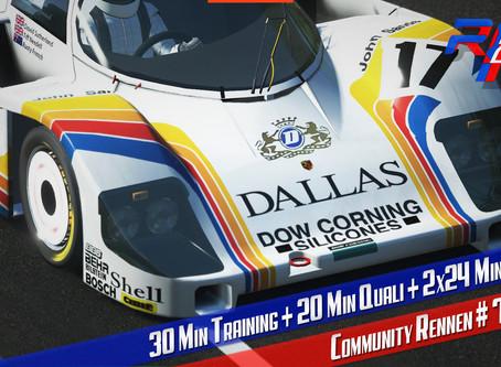 rF2-CR 74 | 24 minute du Mans - GTPC`84 @ Le Mans 2018