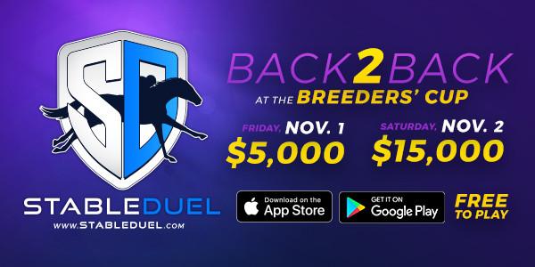 StableDuel, fantasy horse racing app. Breeders' Cup Challenge.