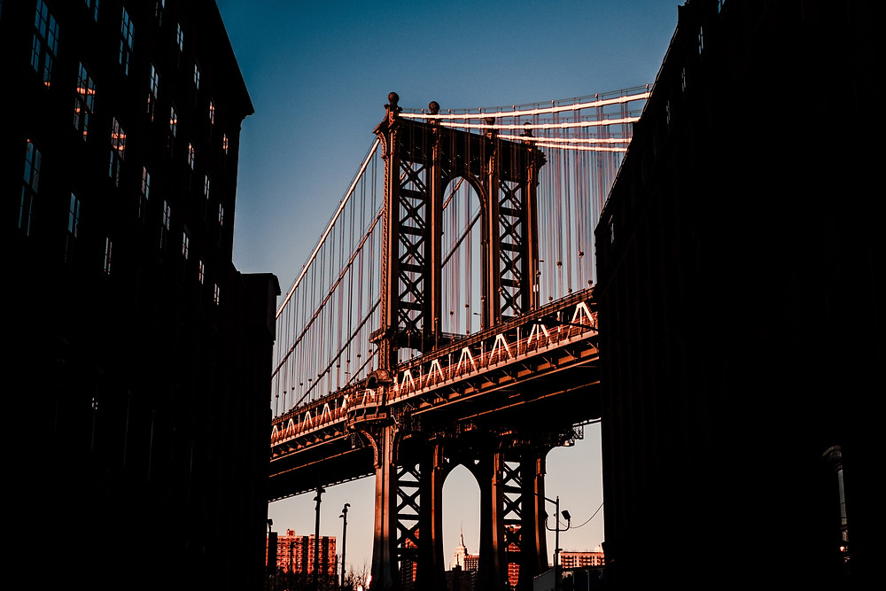 Manhattan Bridge from Brooklyn, New York