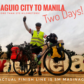 Bicycling from Baguio to Manila SUCCESS!