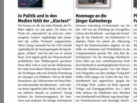 """""""Fast schon Pflichtlektüre"""""""