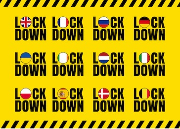 Lock-down announced in the EU