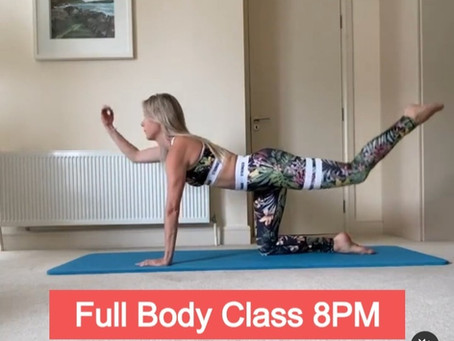 Live Pilates Class tonight at 8pm