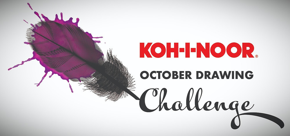 Koh-I-Noor October Drawing Challenge