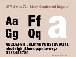 UTM Swiss 721 Black Condensed