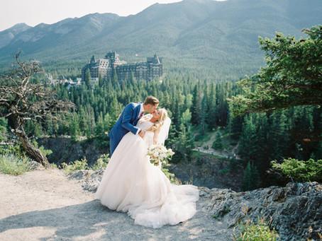 Chrissy + Jake's Dreamy Mountain Wedding in Banff, Canada!