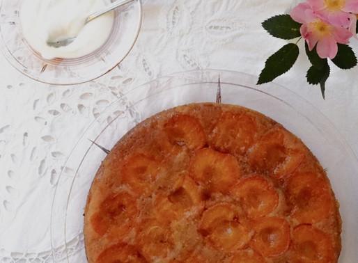 Caramelised Apricot & Almond Upside-Down Cake