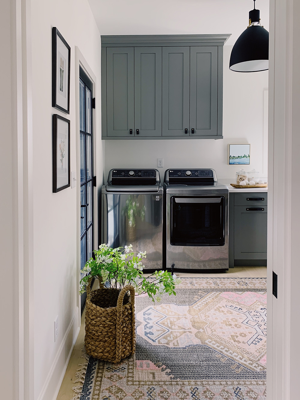Chelsea gray custom cabinetry laundry room