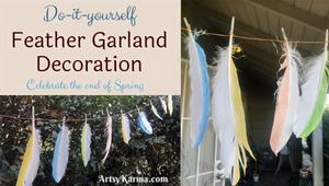 diy feather garland decoration