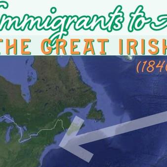 The arrival of Irish Famine immigrants in America