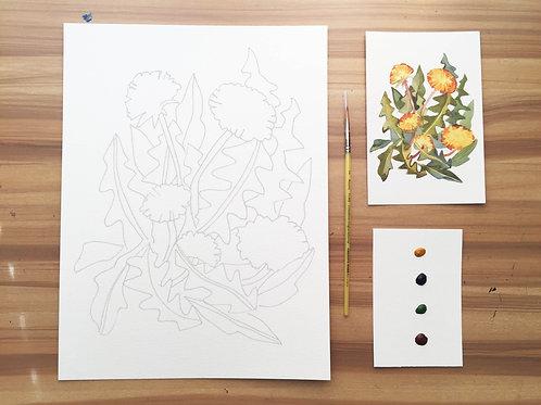 Dandelion Watercolor Kit
