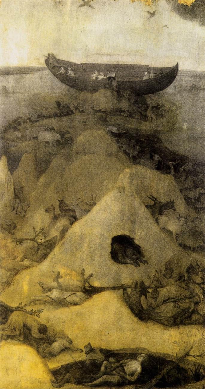 Hieronymus Bosch, Noah's Ark on Mount Ararat (obverse), c.1514
