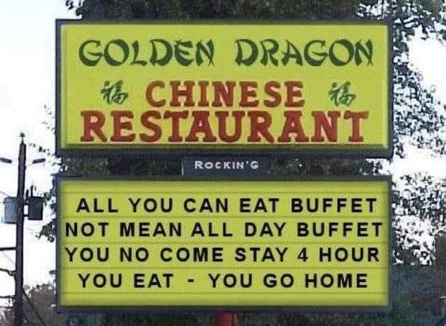 Funny Chinese Restaurant Signs