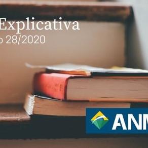 NOTA EXPLICATIVA SOBRE A RESOLUÇÃO Nº28/2020