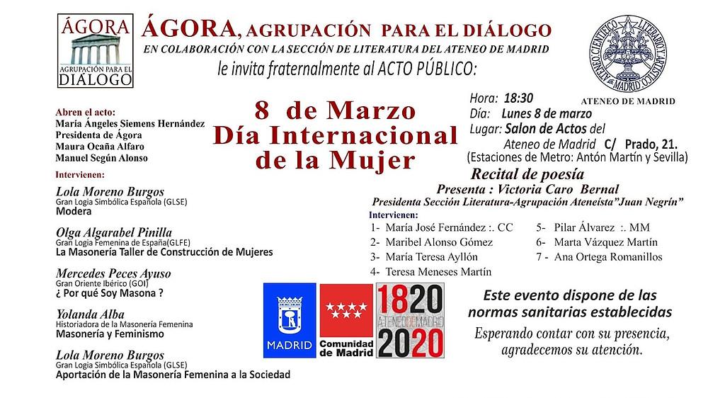 Ateneo de Madrid el día 8 de Marzo