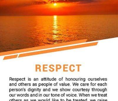 April Theme is Respect!