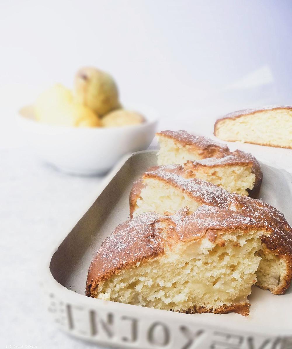 Italian Pear and Mascarpone Cake