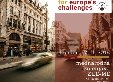 To jesen: LONDON in ERASMUS+ projekt SEE-ME: Ustaviti trgovino z ljudmi