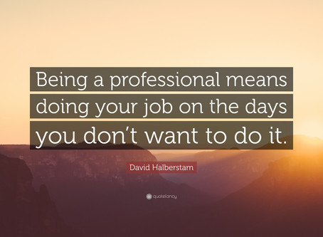 Minister's Monday Moment - Being Professional