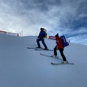 FIS-Rennen Davos - Streckeninspektion GS