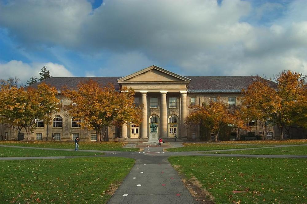 Arts Quad and Goldwin Smith Hall, Cornell University
