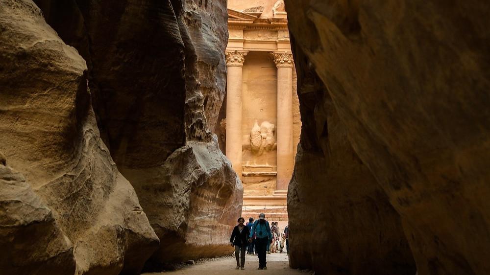 Entering Petra Jordan