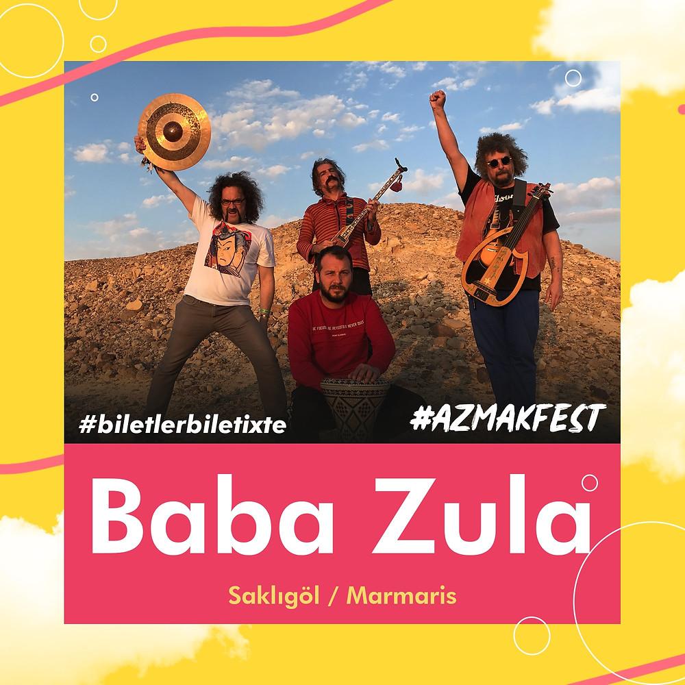 Her seferinde müziğiyle sınırları zorlayan BabaZula, 30 Ağustos Cuma günü #AzmakFest'te!