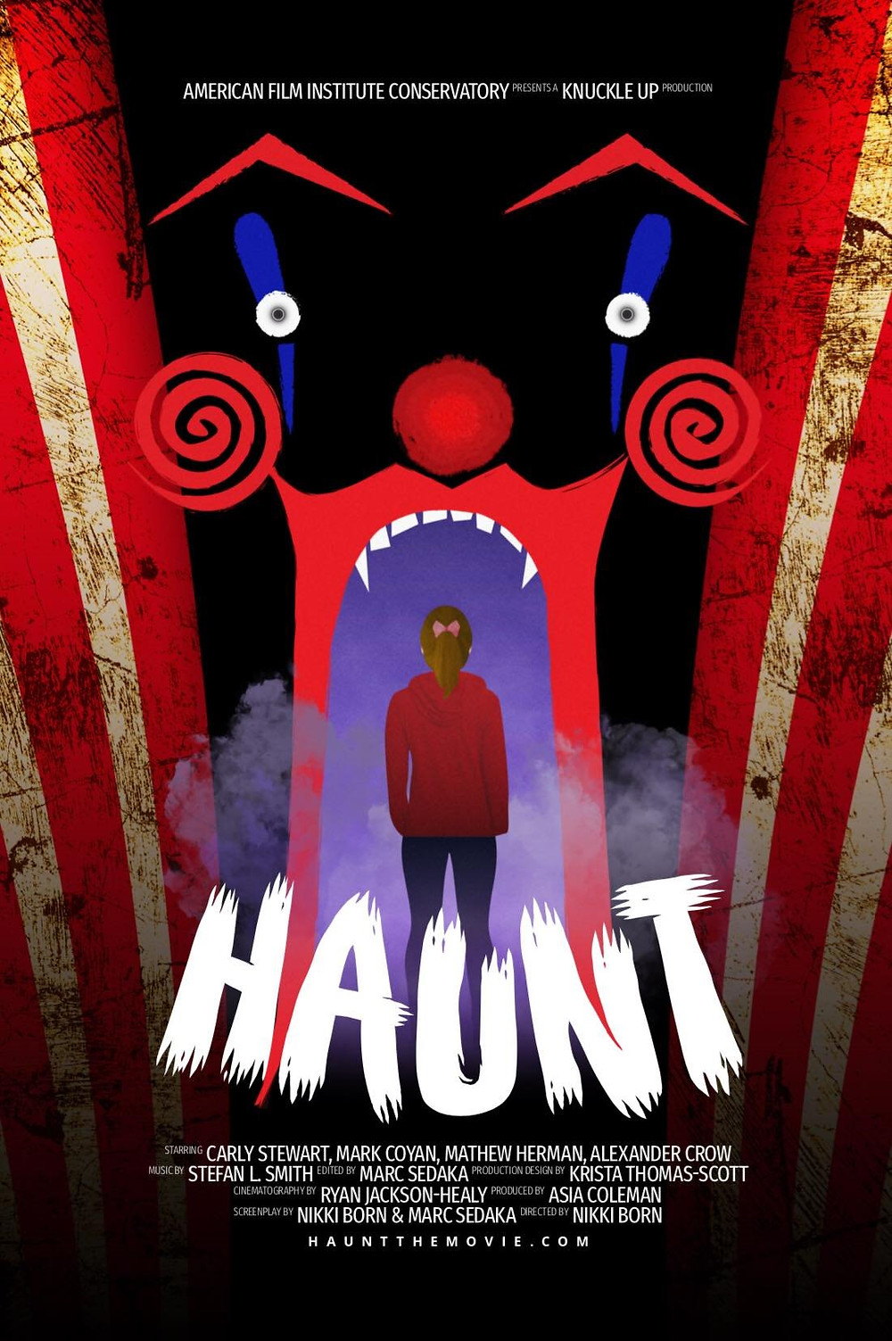 Film Poster for Haunt showing main character.