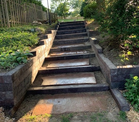 Outdoor Steps & Walls with BestPLUS Brown 6x6 Recycled Plastic Landscape Timbers