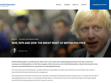 1945, 1979 and 2016: The Brexit Reset of British Politics