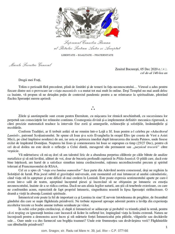 Supremul Consiliu Al Romaniei, Ritul Scotian Antic Si Acceptat