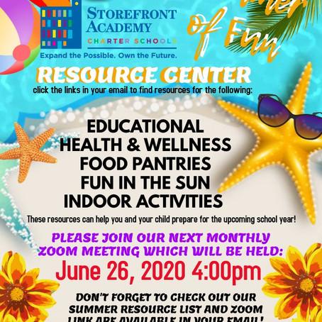 Summer Resource Center!