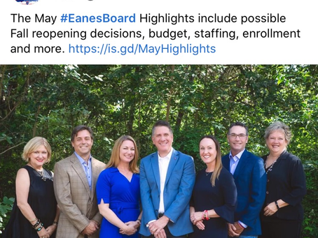 Eanes ISD Board Update-Possible Fall Reopening, Budget, Staffing & More