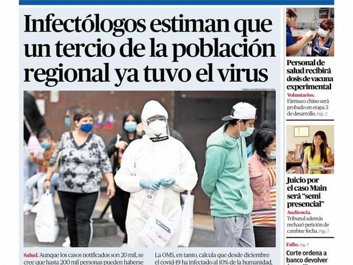 TITULARES DE LOS PRINCIPALES DIARIOS DE LA REGIÓN | 6 DE OCTUBRE 2020