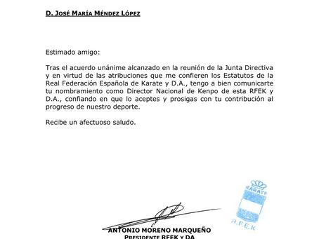 JOSÉ MARÍA MÉNDEZ REELEGIDO DIRECTOR DEL DNK