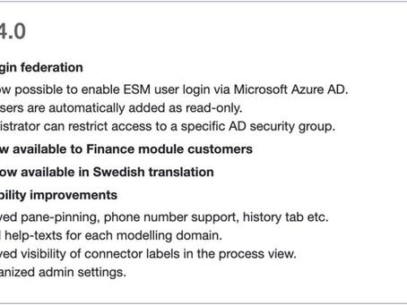 ESM version 3.4.0 is released