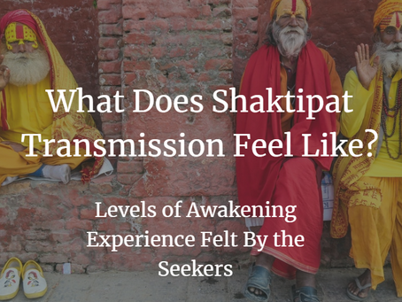 What Does Shaktipat Transmission Feel Like? Levels of Awakening Experience Felt By the Seekers