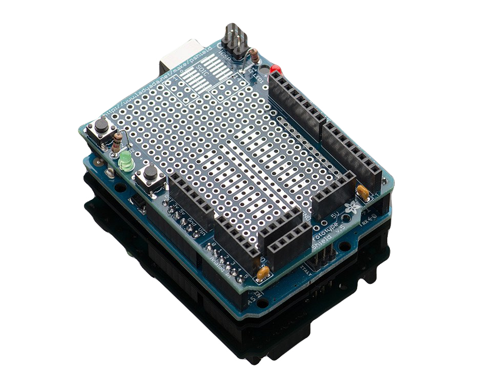 Быстро делайте прототипы новых схем без макета  с Arduino Proto Shield