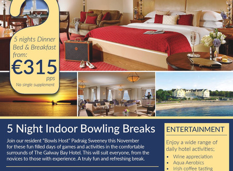 GALWAY BAY HOTEL BOWLS BREAK