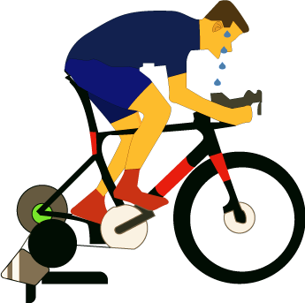 illustration of bicycle rider