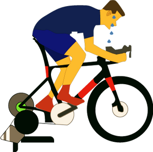 illustration of bicycle rider