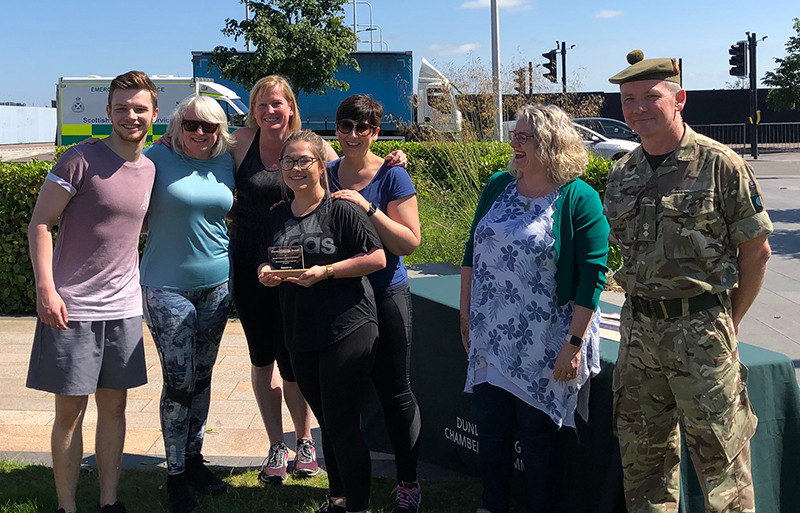 Chamber Force Stretch event at Slessor Gardens