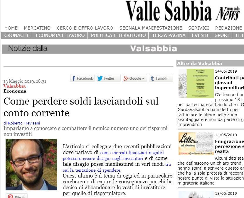 Vallesabbia news consulenza finanziaria