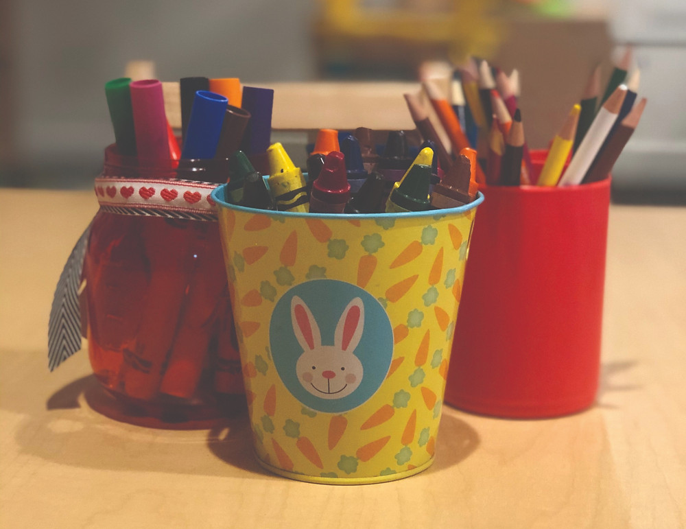 Organize supplies for Pre-K remote learners