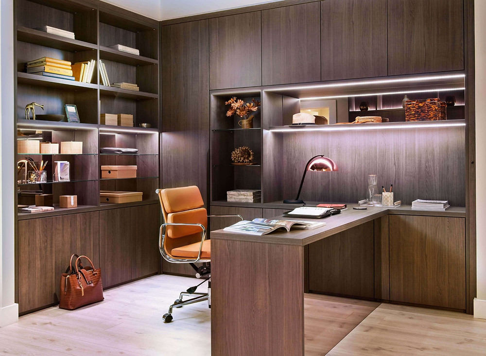integrated home office space designed by Neatsmith