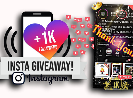 MMG 1K Instagram Celebration Giveaway Event