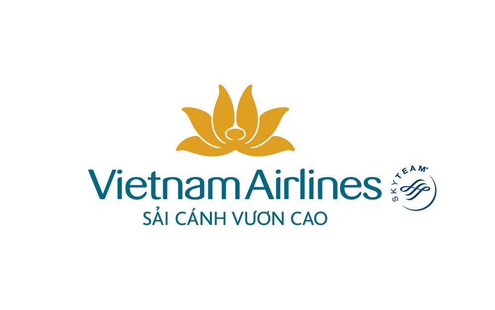 Logo Vietnam Airlines Slogan Sải cánh vươn cao - Bố cục dọc