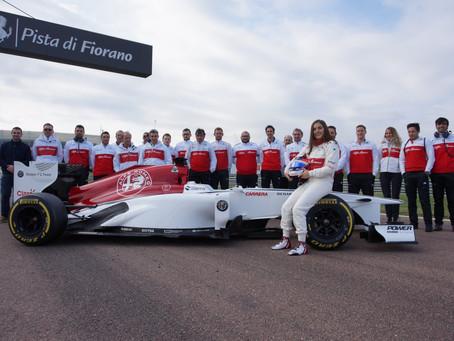 Tatiana Calderón sigue ganando experiencias en pruebas con Alfa Romeo Sauber