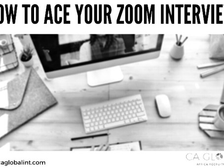 Interview Tips - Ace Your Zoom Meetings